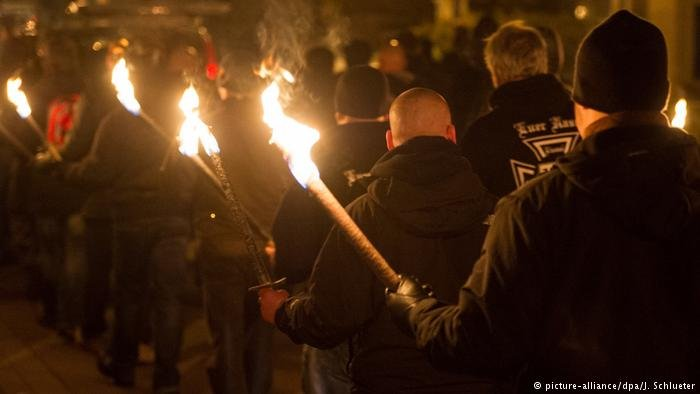 Far right demonstration in Germany