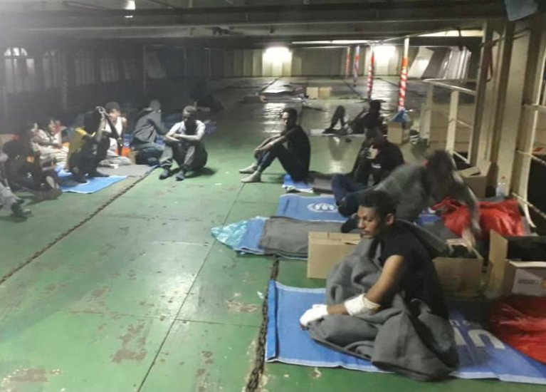 File photo of the Nivin migrants, November 2018 | Credit: DR