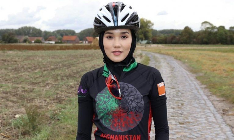 Masomah Alizada, 24, has been picked among 29 other athletes to participate in the upcoming Tokyo Olympics as part of the IOC's Olympic Refugee Team   Photo: DR