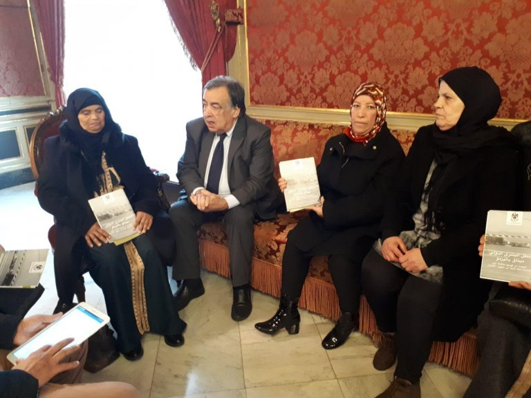 The four Tunisian mothers meet with the mayor of Palermo, Leoluca Orlando | Photo: ANSA