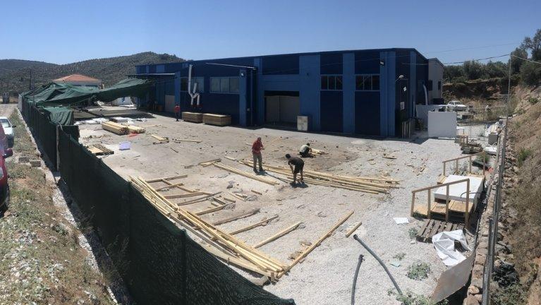 """MSF a annoncé le 30 juillet 2020 avoir été """"forcé"""" de fermer son centre destiné à l'isolation des malades du Covid-19, sur l'île grecque de Lesbos. Crédit : MSF/Ihab Abassi."""