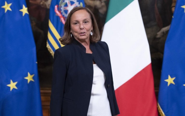 New Interior Minister Luciana Lamorgese, prior to a cabinet meeting of the second Conte government in Palazzo Chigi, Rome, September 5, 2019 | Photo:  ANSA/Maurizio Brambatti