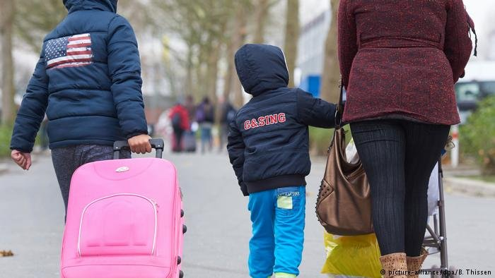 A refugee family in Dortmund, Germany