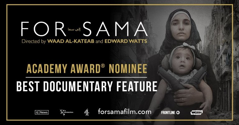 Film Poster from For Sama film by Waad Al Kateab and Edward Watts | Source: Courtesy of Action for Sama campaign