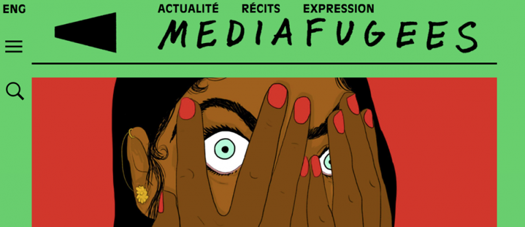 Mediafugees est un média en ligne écrit par des migrants. Crédit : Mediafugees
