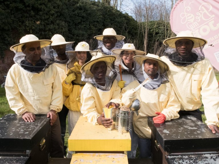Professional training with beekeeping experts