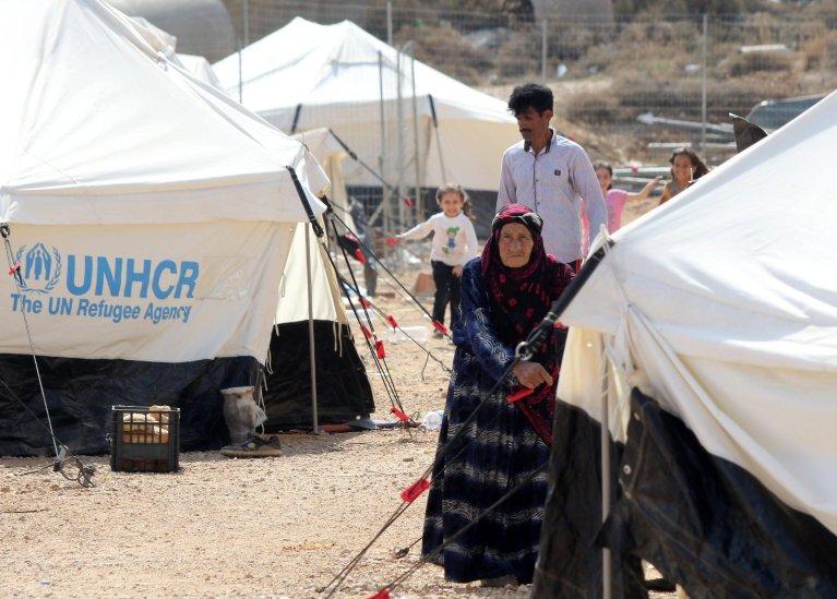 """صورة أرشيفية من داخل مخيم """"فيال"""" في جزيرة كوس اليونانية. المصدر: وكالة أنسا"""