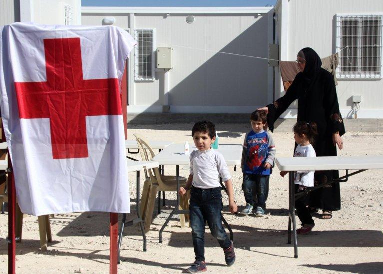 Ansa / لاجئون سوريون في منطقة مخصصة للاستضافة في قرية كوكينوترميتيا بالقرب من نيقوسيا. المصدر: صورة أرشيف / كاتيا خريستودولوس.
