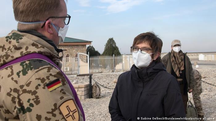 Germany's defense minister Annegret Kramp-Karrenbauer visits German troops in Afghanistan   Photo: Sabine Oelbeck / Bundeswehr / dpa / picture-alliance