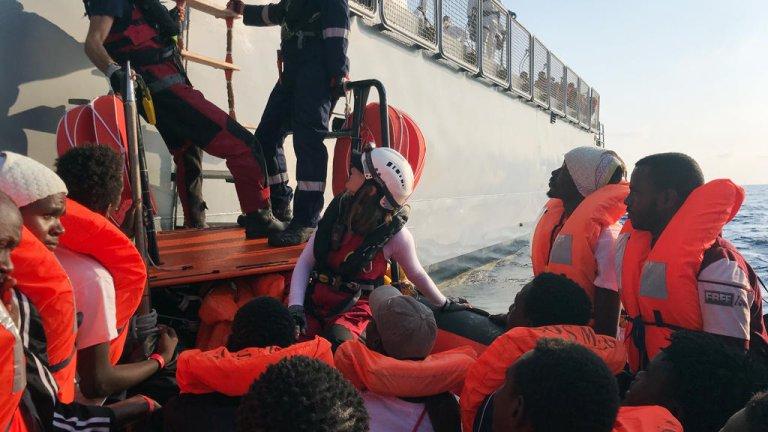 ( أ ف ب) |انقاذ المهاجرين في البحر الأبيض المتوسط
