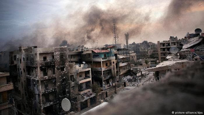 Syria's Aleppo after heavy fighting between Assad and opposition forces