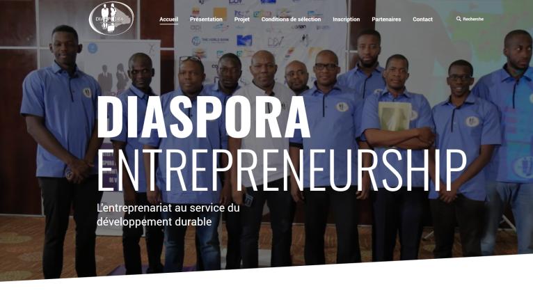 diaspora-entrepreneurship.com  Page d'accueil de Diaspora entrepreneurship. (Image d'illustration)