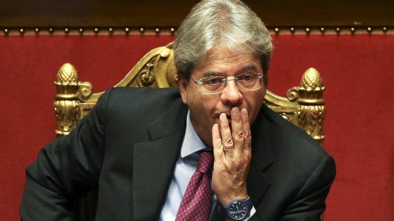 Le chef du gouvernement italien, Paolo Gentiloni. crédit : Reuters