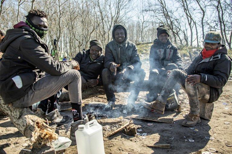 Image d'archives de migrants à Calais. Crédit : EPA