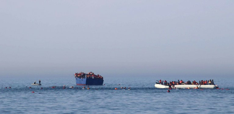 Image d'archive d'un sauvetage en mer Méditerranée. Crédit : Reuters