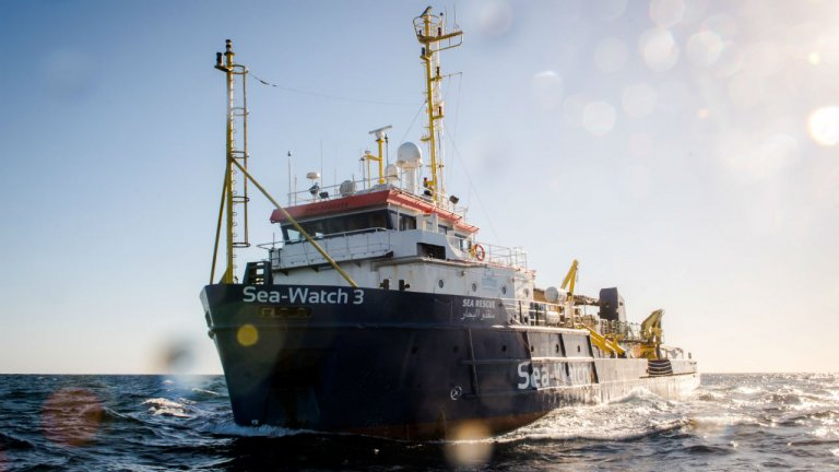 Le navire Sea-Watch 3 a été relâché par la justice italienne le 19 décembre.  Photo : Sea-Watch.org
