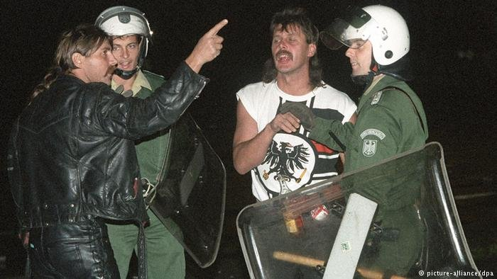 Thousands of right-wing extremists descended on Rostock-Lichtenhagen in August 1992, some having traveled from as far away as Frankfurt