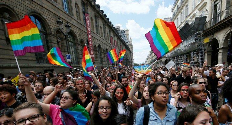 Marche des fiertés homosexuelles, à Paris. (Image d'illustration) Crédit : Reuters