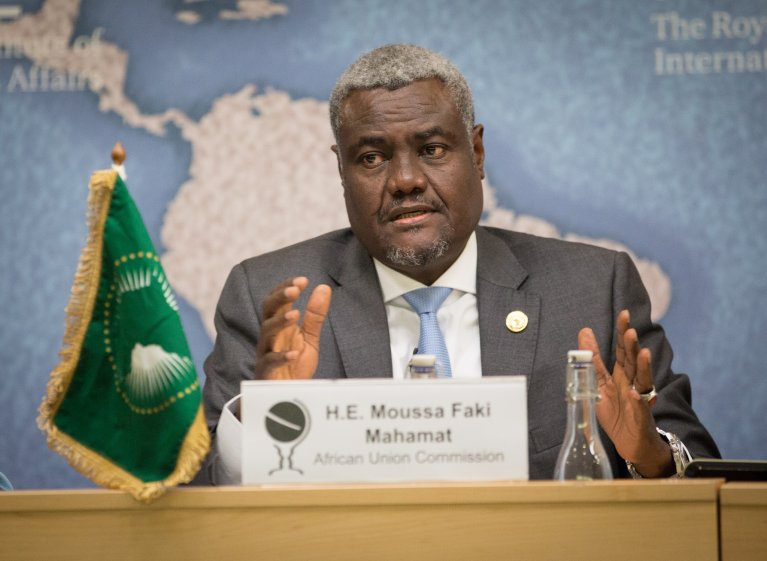 Flickr/CC/Chatham House/©Suzanne Plunkett 2017 |Moussa Faki Mahamat, président de la Commission de l'UA, est l'invité Afrique de RFI.