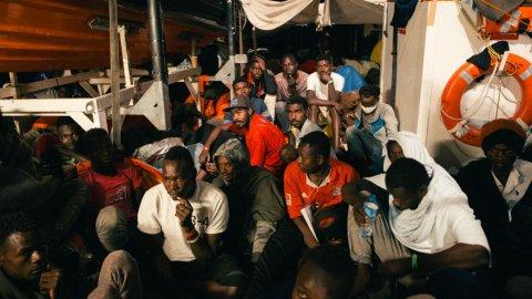 233 migrants ont été secourus par le navire humanitaire Lifeline Crédit : Mission Lifeline e. V., Felix Weiss, AFP |