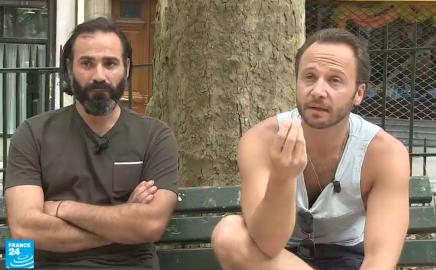 ممثلان سوريان في مسلسل فرنسي يجسد معاناة اللاجئين