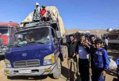 The Syrian refugee camp shelters in Arsal are set for demolition   Photo: Khaldoun Zeineddine