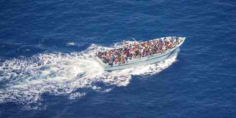 A ship carrying 267 migrants arrived from Tunisia on the Italian island of Lampedusa over the weekend | Source: Moonbird