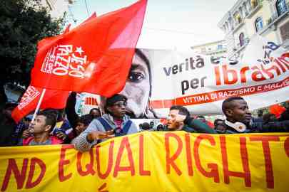 Migrants and people  in precarious situations participated in a rights march in November 2017 in Naples | Photo: ANSA/Ciro Fusco