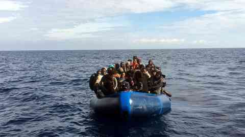 Migrants in the Mediterranean Sea   Photo: Reuters